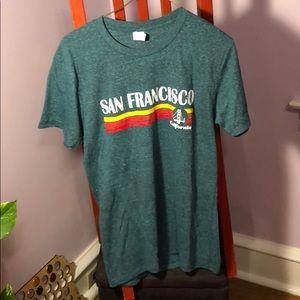 NWOT San Francisco California heathered teal tee